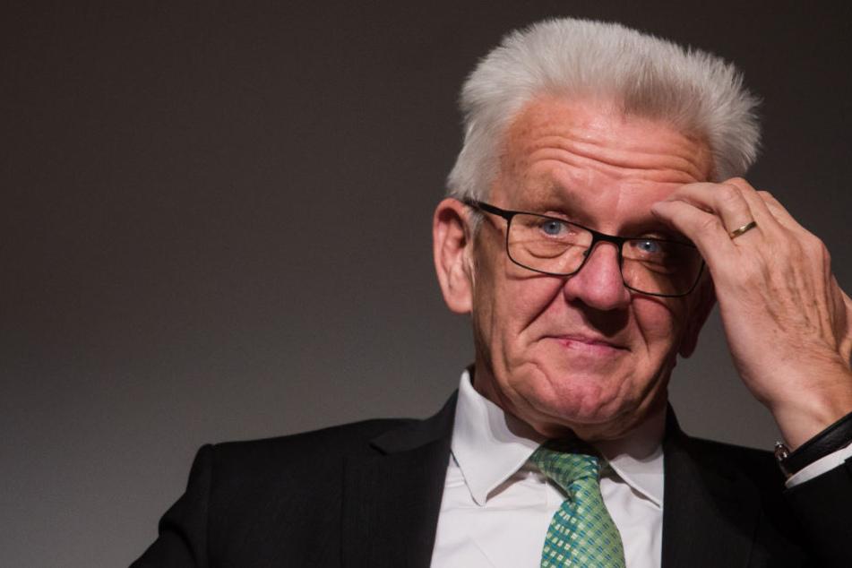Er ist von Hacker-Angriff betroffen: Baden-Württembergs Ministerpräsident Winfried Kretschmann.