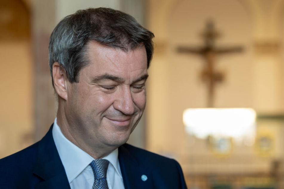 arkus Söder (CSU), Ministerpräsident von Bayern.