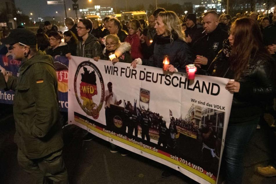 """Die rechte Initiative """"Wir für Deutschland"""" hat ihren Rückzug angekündigt."""