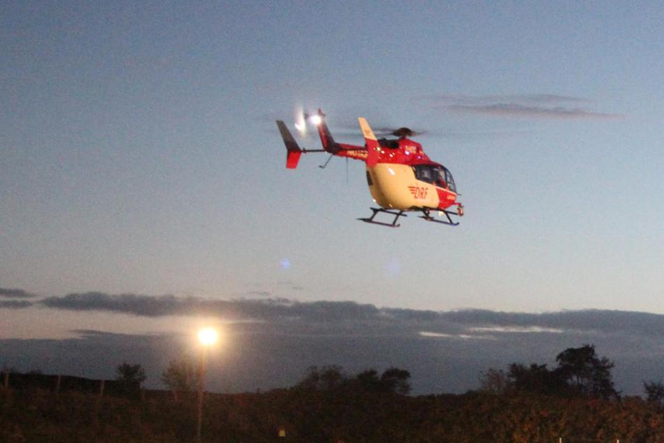 Schwerer Motorradunfall: Hubschrauber bringt Biker in Klinik