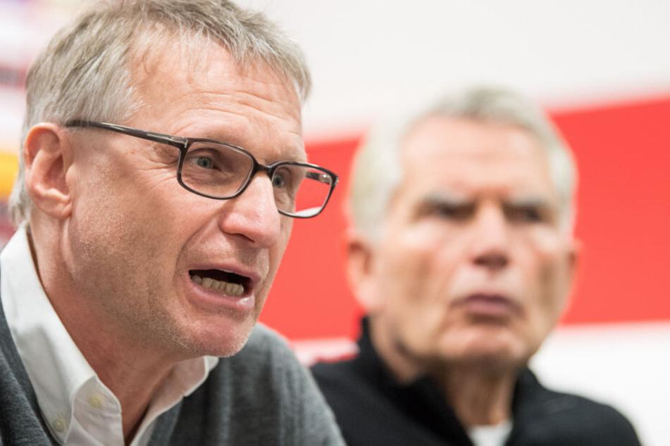 Januar 2018: Der damalige Sportvorstand Michael Reschke (links) gemeinsam mit Dietrich. Der Verein trennte sich im Februar 2019 von Reschke.
