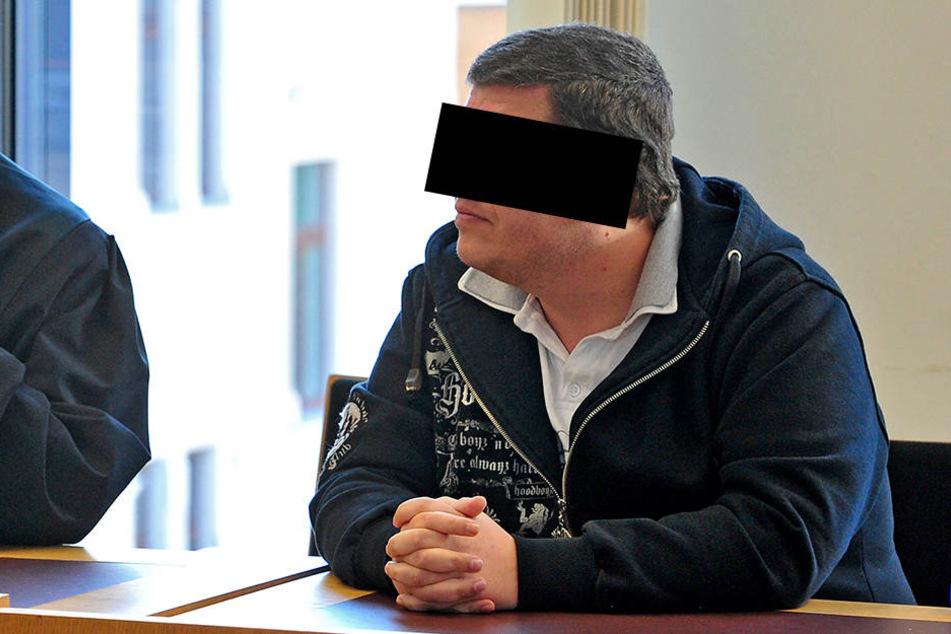 Der Angeklagte Steve W. (35) am Donnerstag im Amtsgericht Chemnitz.
