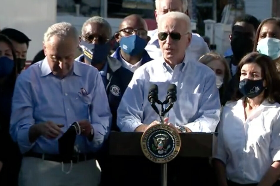 """Biden warns of climate """"Code Red"""" on NYC visit to survey damage left by Hurricane Ida"""