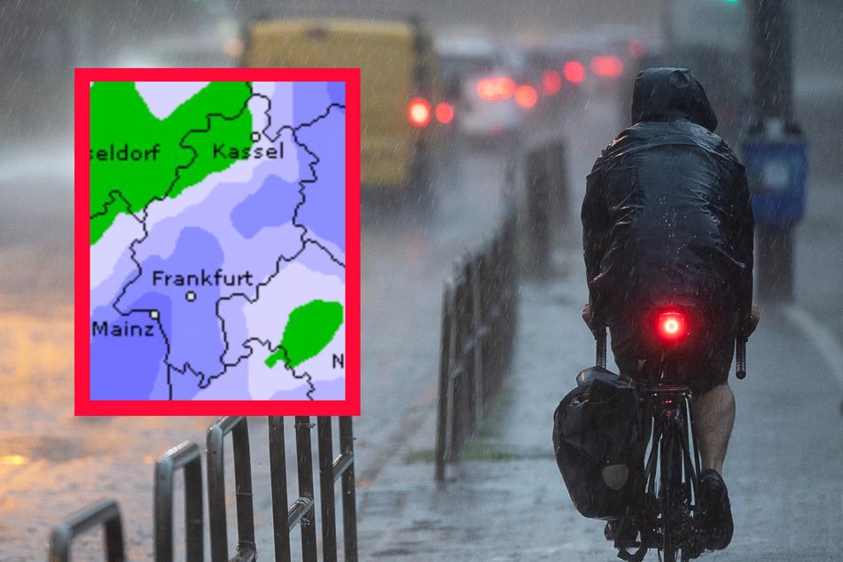 Auch der Dienst Wetteronline.de sagt teils schwere Niederschläge für den Freitag in Hessen voraus.