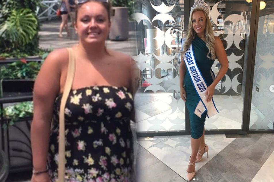 Was für eine Verwandlung: Jane Atkin (26) hat 50 Kilogramm verloren.