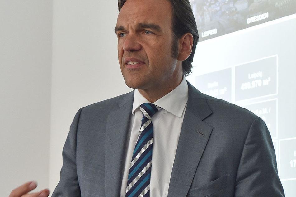 Erst Kasse machen, dann bauen. Christoph Gröner (48), Chef der CG-Gruppe.