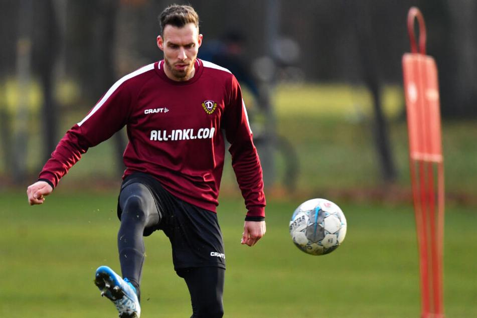 Patrick Schmidt absolvierte gestern Vormittag seine erste Einheit mit Dynamo.