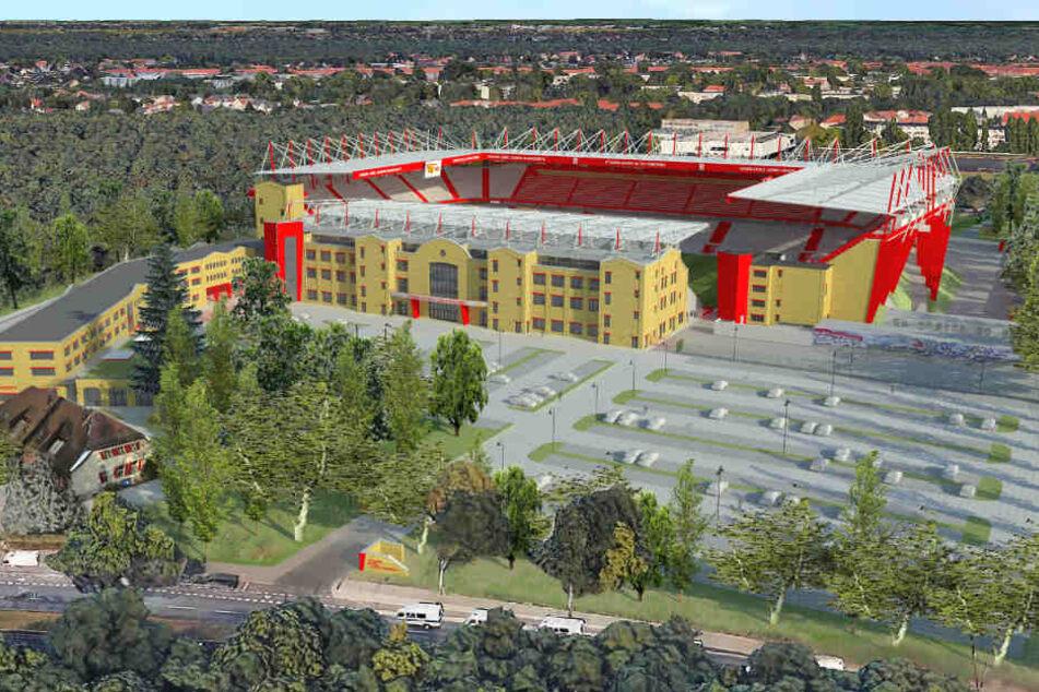 Der Fußball-Zweitligist will das Stadion bis 2020 zu einer erstligareifen 37 000-Zuschauer-Arena ausbauen.
