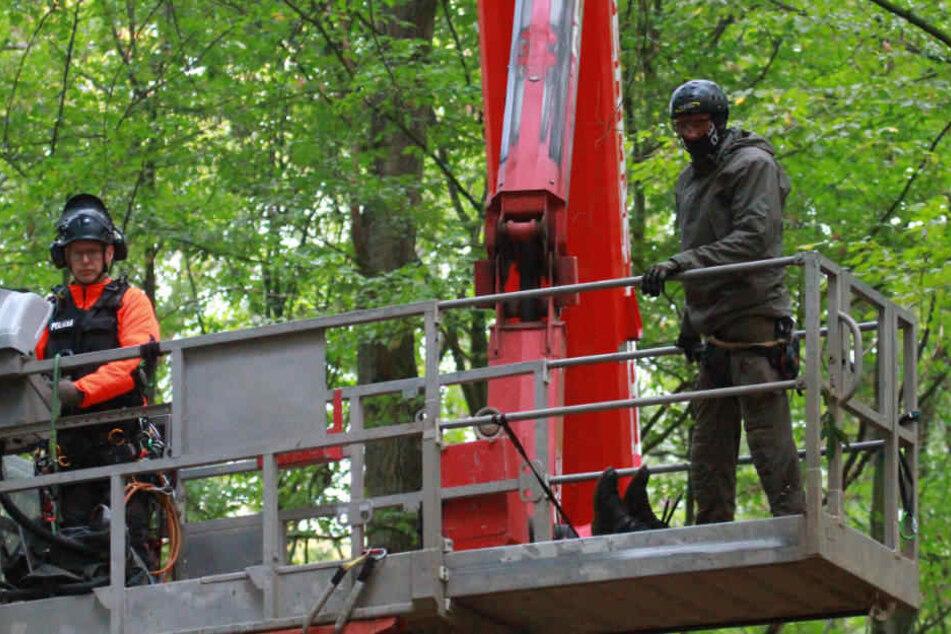 Am Donnerstag begann die Räumung der Baumhäuser im Hambacher Forst.