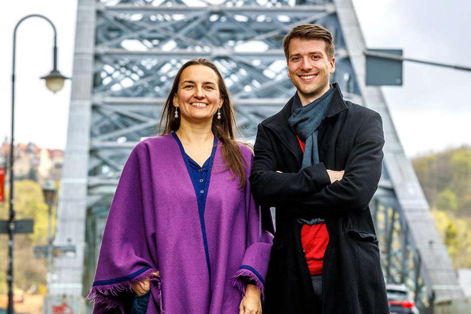 Silke Hohmuth (42) und Martin Schneider (29) kennen sich mit Geld bestens  aus. Davon sollen auch bald die sächsischen Schüler profitieren.
