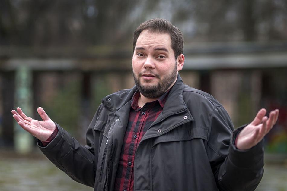 Stadtrat Toni Rotter (31, Piraten) fordert, die Kameras während Demonstrationen auszuschalten.