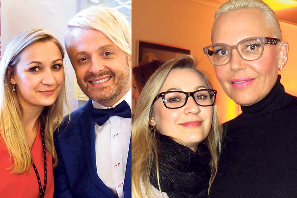 Sänger Ross Antony (44, links) schwört auf das Make-Up von Melanie Palmer. Autorin und Reality-Show-Star Natascha Ochsenknecht (54) wirkt jung und frisch, auch dank Melanies Make-Up.