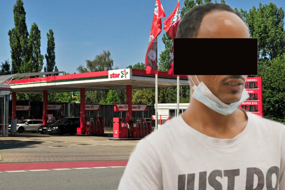 Im Vollrausch! Mann (24) wollte Tankstelle in Chemnitz anzünden
