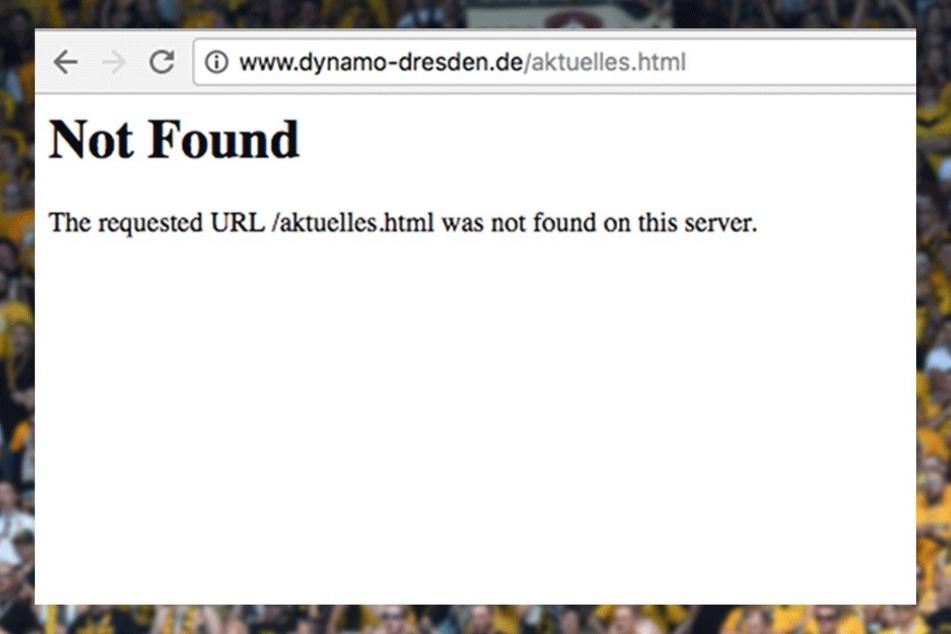 Wer am Mittwochmorgen zu Dynamo wollte, der guckte in die Röhre.