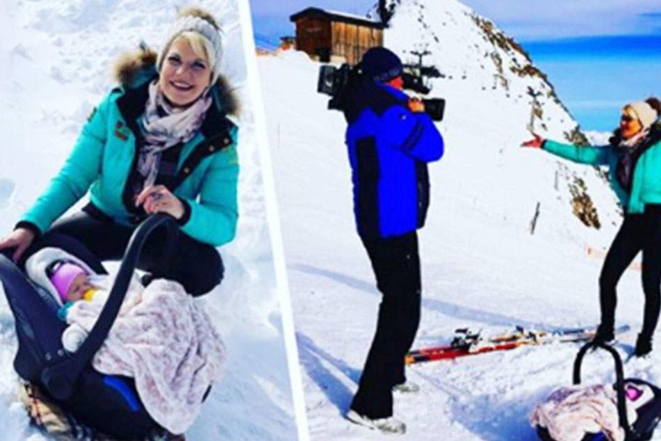 Melanie Müller lässt ihre kleine Tochter im Schnee liegen