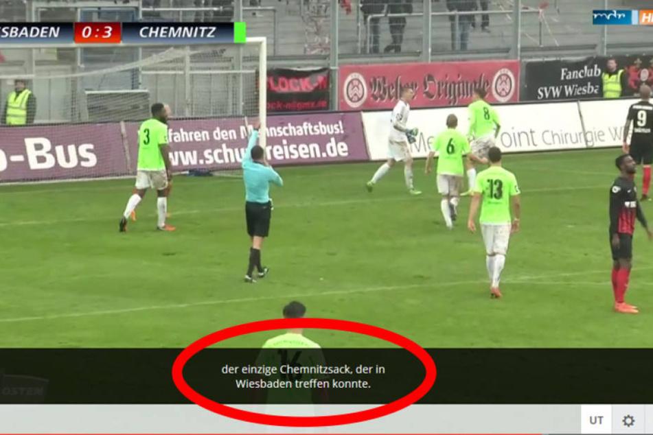 Der Screenshot zeigt: Der Untertitel beim MDR ging richtig daneben.