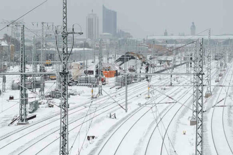 2018 versank Leipzig unter einer dicken Schneedecke, der Bahnverkehr kam zwischenzeitlich komplett zum Erliegen.