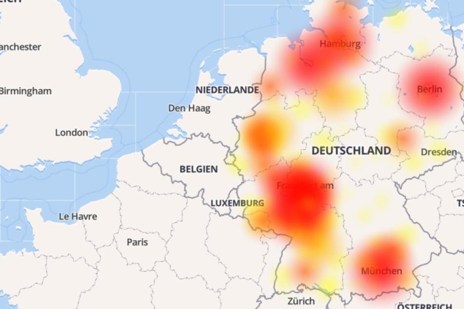 Riesige Netzstörung bei O2 in Deutschland