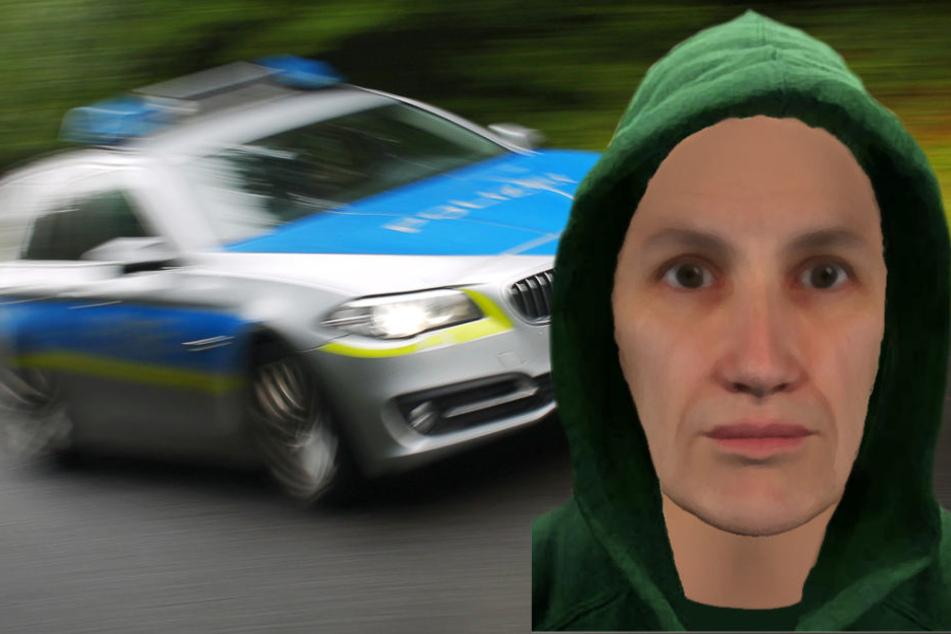 Die Polizei sucht mit einem Phantombild nach dem erfolglosen Räuber.