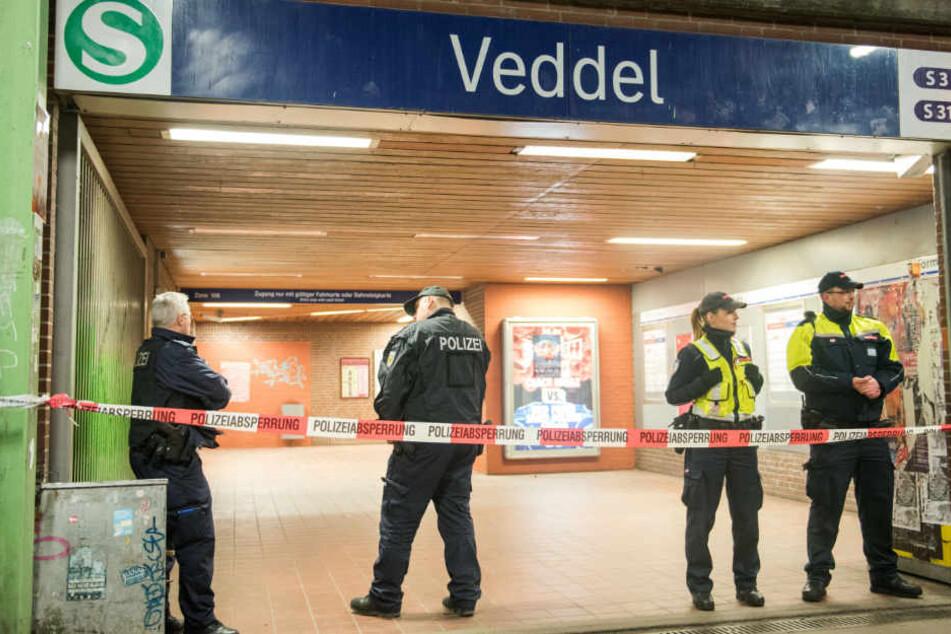 Der Veddeler S-Bahnhof nach dem Anschlag im Dezember.