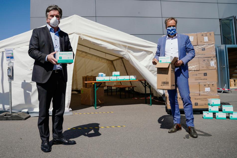 """""""Beitrag für die Gesellschaft"""": Heidelberg übergibt 380.000 Schutzmasken"""