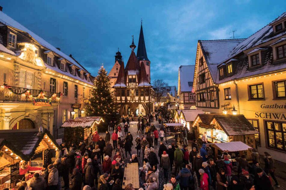 Der Weihnachtsmarkt in der historischen Altstadt von Michelstadt öffnet am 30. November.