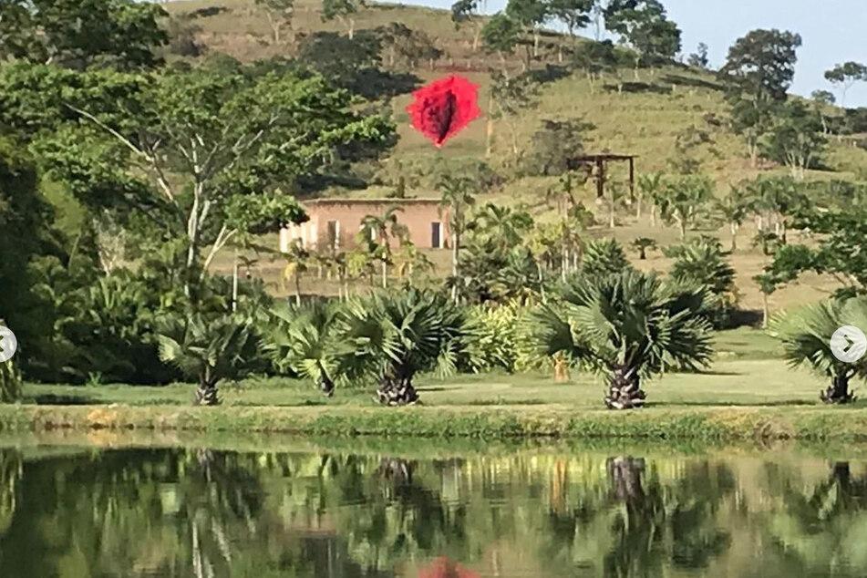 Giant vulva sculpture on a hill causes a stir in Brazil