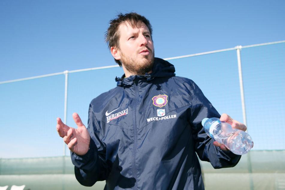 Aues Coach Hannes Drews.
