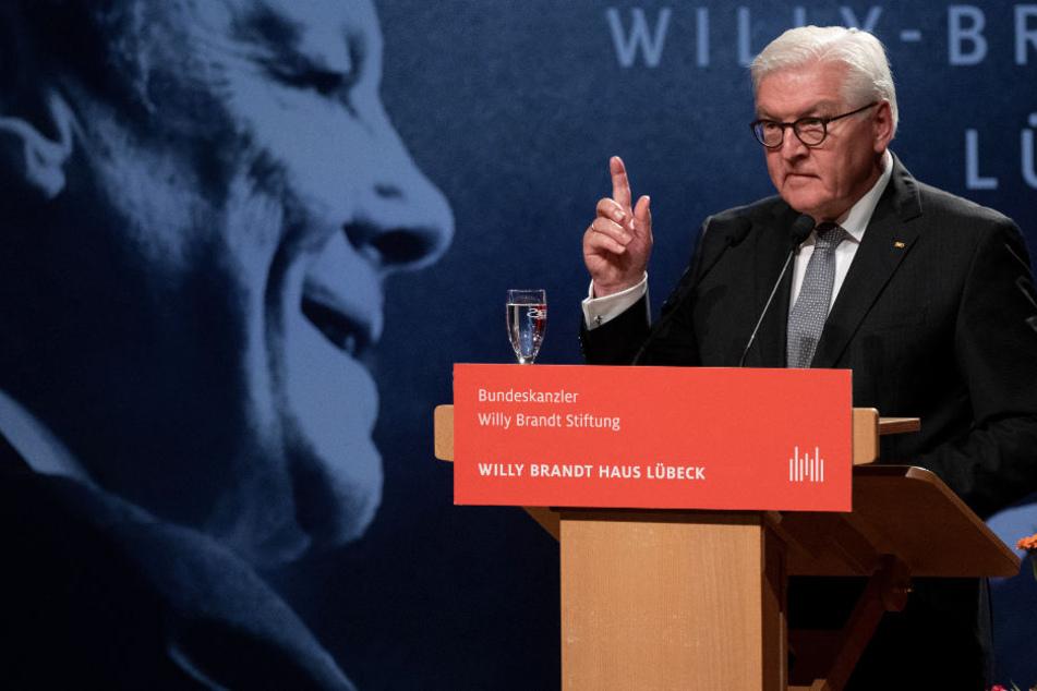 Bundespräsident Frank-Walter Steinmeier sprach in Lübeck die sogenannte Willy-Brandt-Rede.