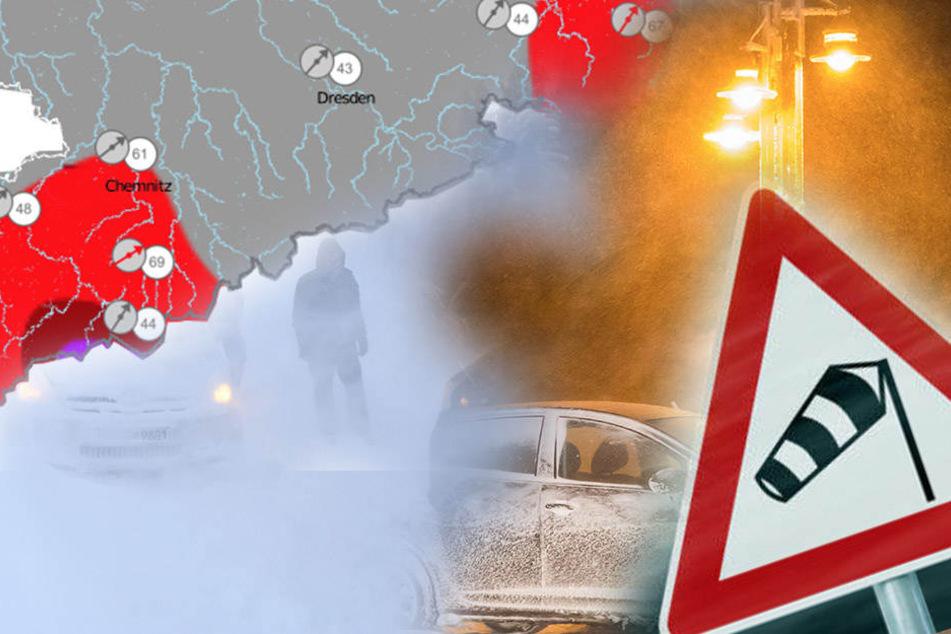 Auf dem Fichtelberg herrscht Unwetterwarnung.