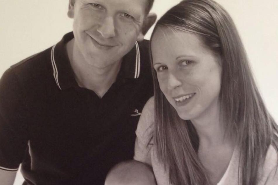 Angharad mit ihrem Mann Martin.