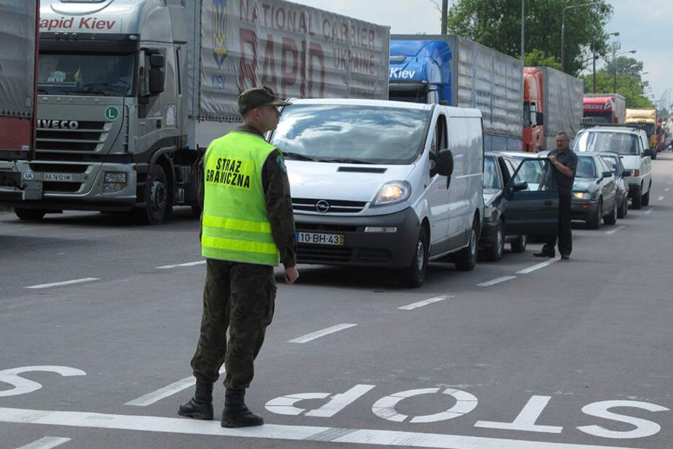 Die polnische Ostgrenze wird, so wie hier in Dorohusk, durch Grenzwachen kontrolliert.