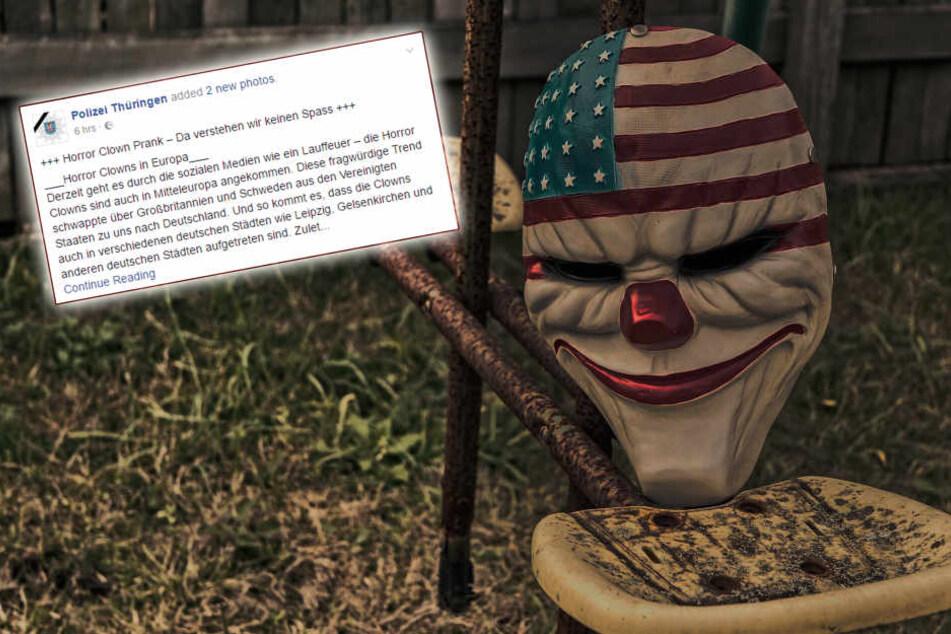 """Polizei warnt vor Killer-Clowns: """"Da verstehen wir keinen Spaß"""""""