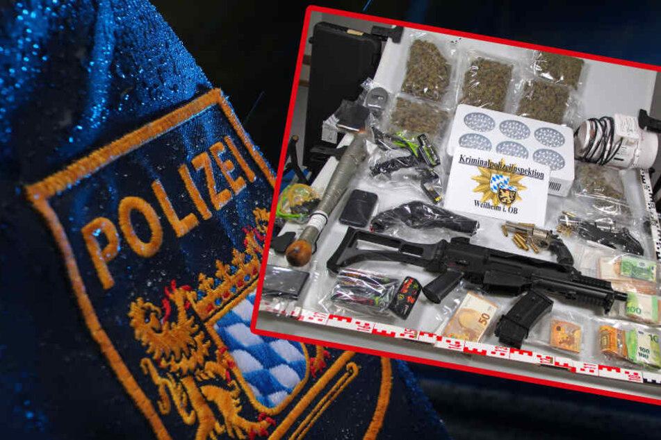 Polizei findet bei 61-Jährigem in Oberbayern Drogen und Waffen