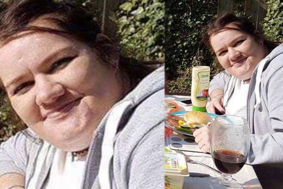 Gemma Dobbing (32) vor ihrer Verwandlung.