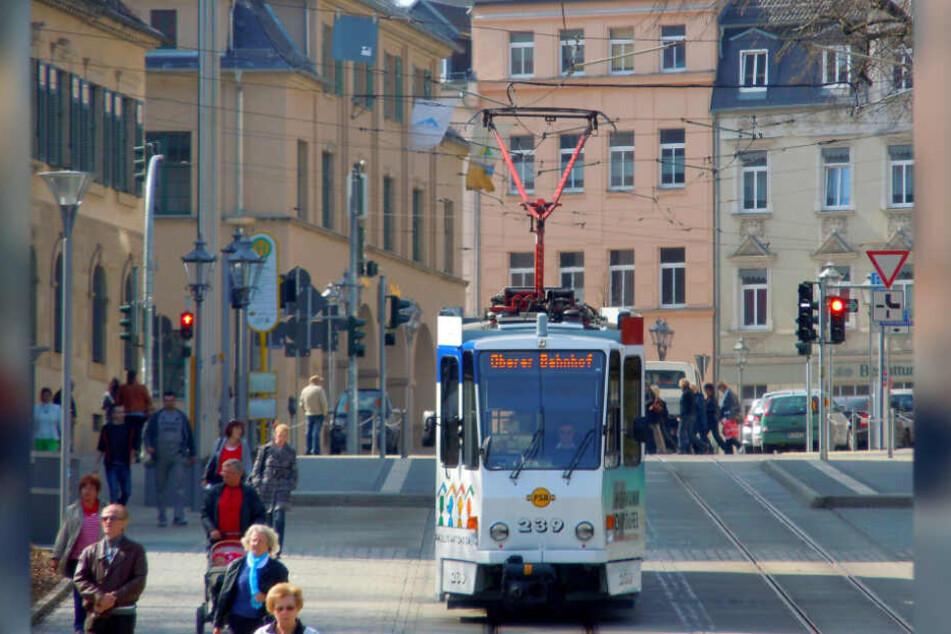 Die Straßenbahnen in Plauen fahren ab dem 6. Dezember nach Ferienfahrplan. Grund dafür ist eine Krankheitswelle (Archivbild).