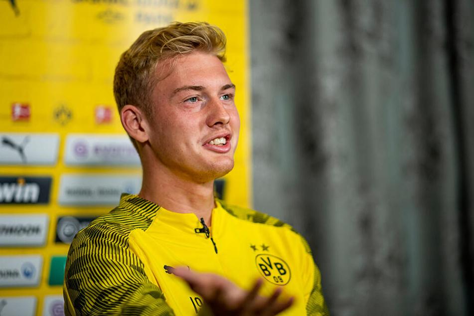 Kam nach Meinung von Marco Reus etwas zu blass aus seinem Sommerurlaub: Julian Brandt.