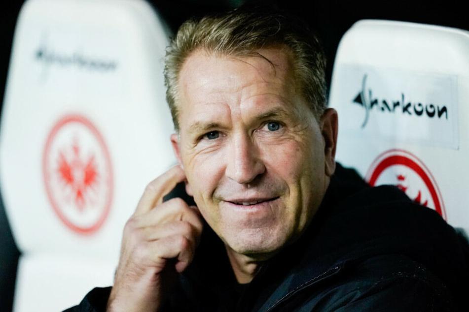 Hertha-Torwarttrainer Andreas Köpke beim Auswärtsspiel in Frankfurt.