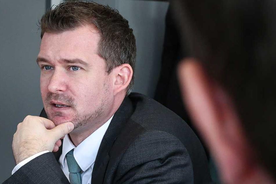 Ist als Baubürgermeister für das Thema zuständig: Raoul Schmidt-Lamontain (41, Grüne).