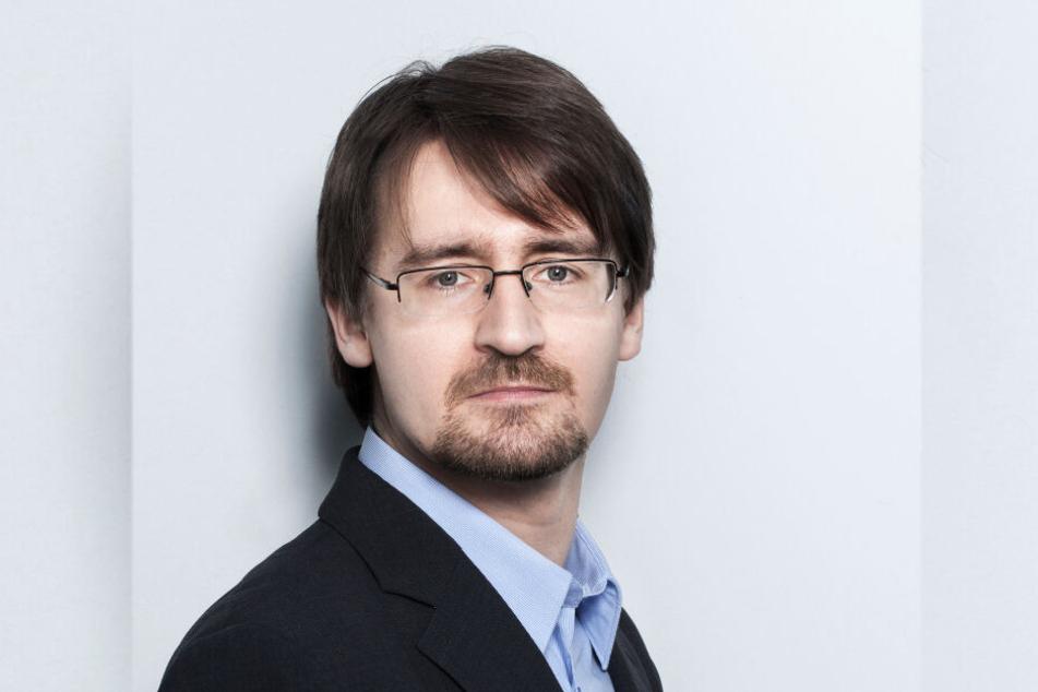 Ulrich Weiser (39) vom Chemnitzer FOG-Institut sieht eine positive wirtschaftliche Entwicklung in der Stadt.