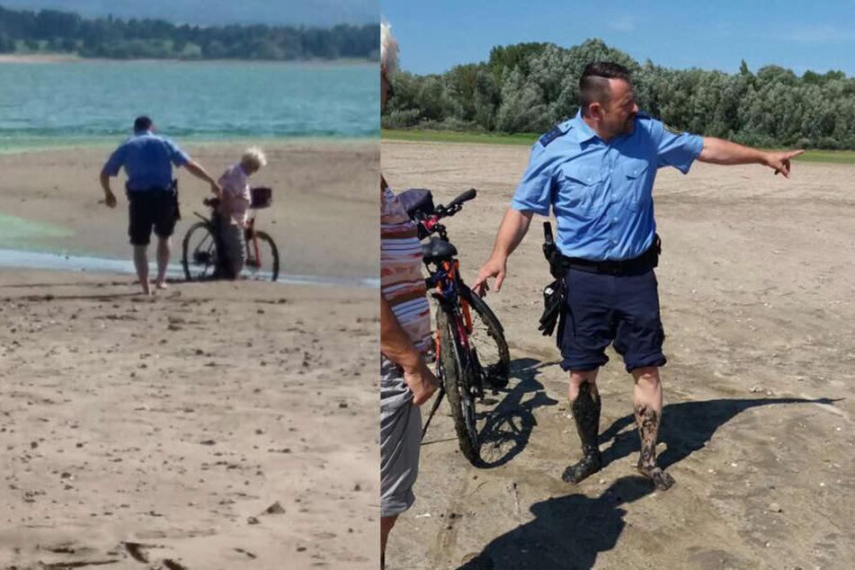 Polizeihauptmeister Isert zeigte vollen Einsatz und befreite die 64-Jährige.