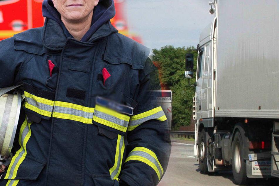 Fahrer bewusstlos: Feuerwehrfrau erklimmt fahrenden Laster auf Autobahn