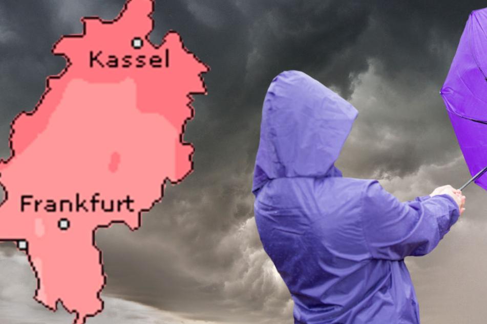 Die Hessen müssen sich am Dienstag auf Sturmböen einstellen (Symbolbild, Grafik: Wetteronline.de).