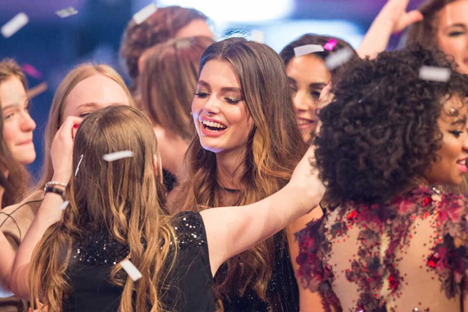 "Da ist die Freude groß! Céline Bethmann (18) ist ""Germany's next Topmodel""."