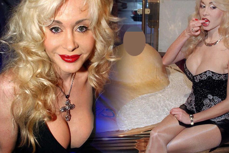 So kennt man sie normalerweise, Dolly Buster strahlt in die Kamera.