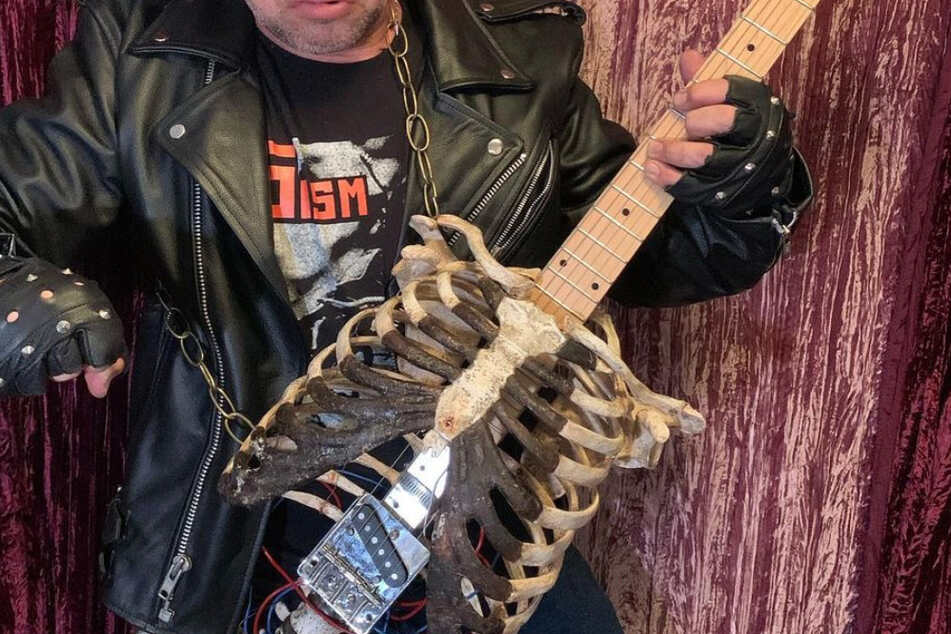 This guitar is made from human remains.