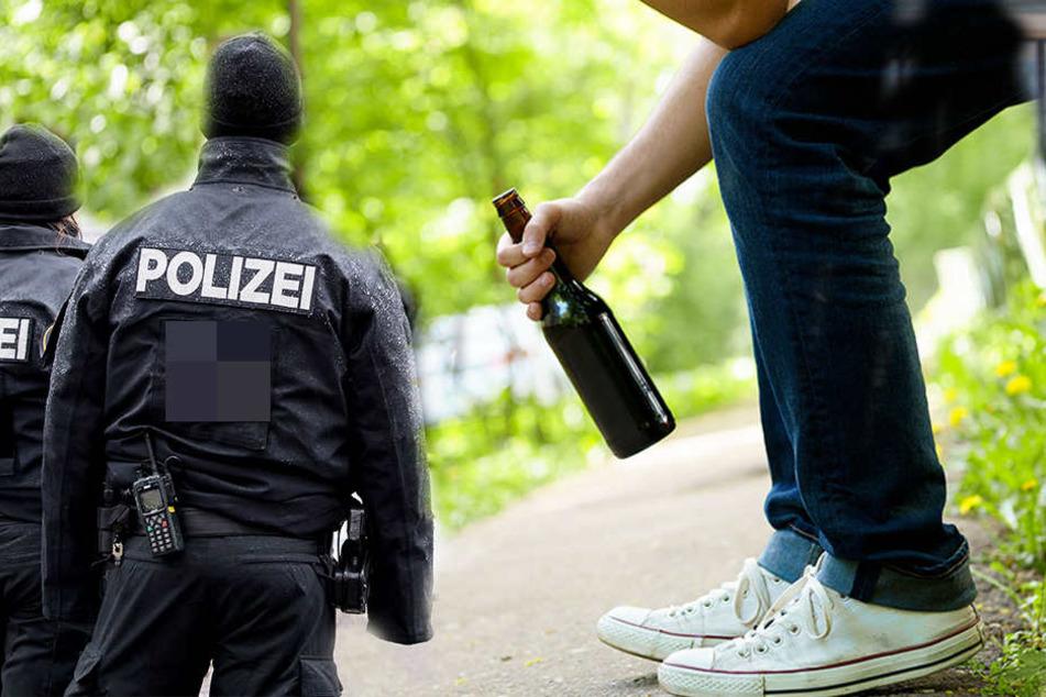 Betrunkener leistet Polizei verbissen Widerstand