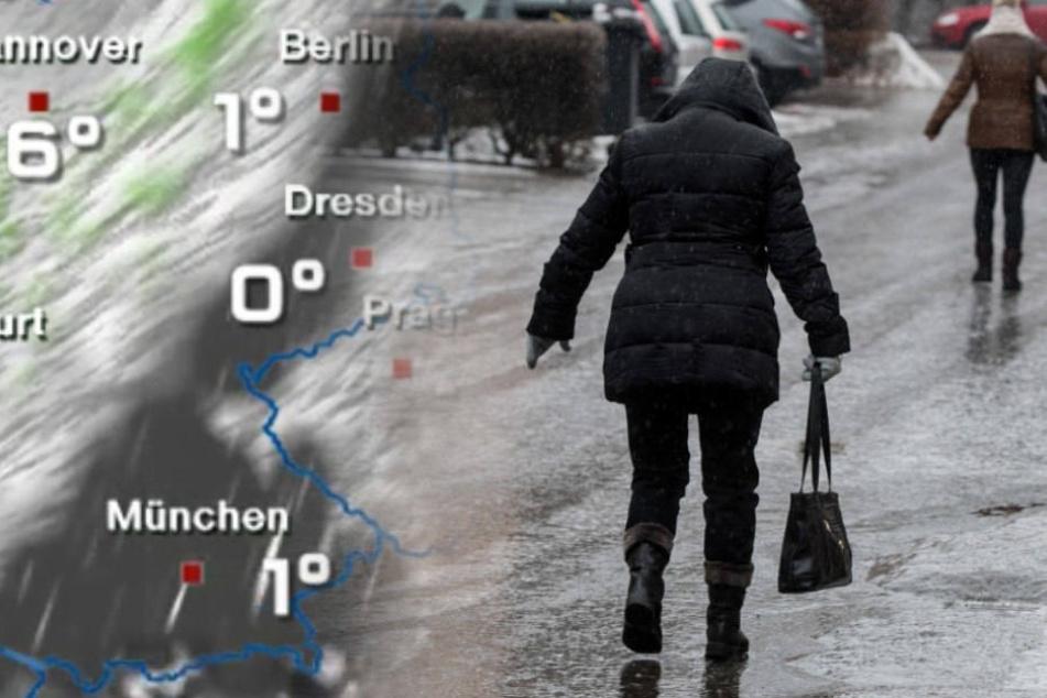 In Berlin und Brandenburg könnte es heute glatt werden. (Symbolbild)