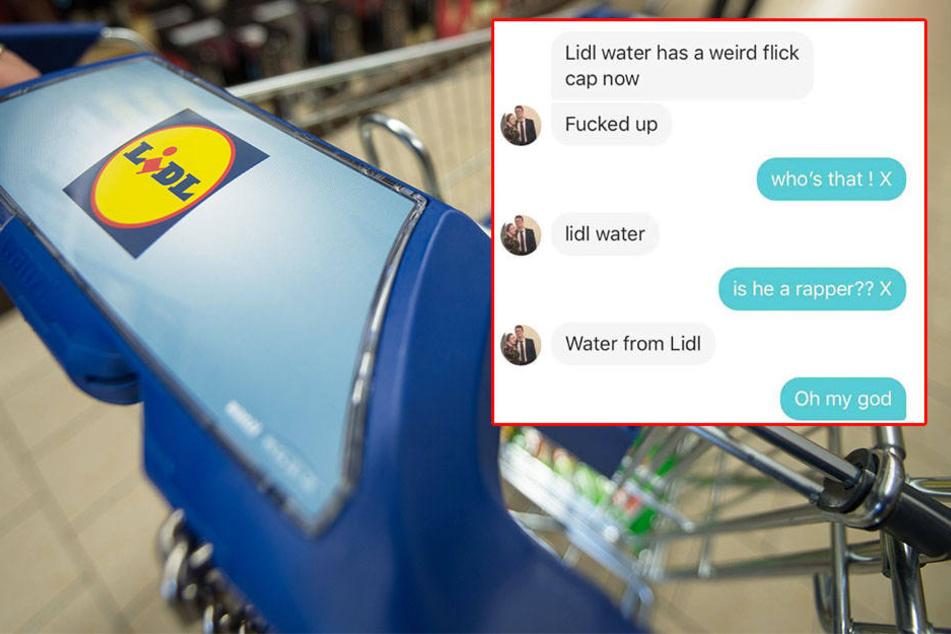 Typ beschwert sich über Wasser bei Lidl: Seine Freundin versteht nur Bahnhof