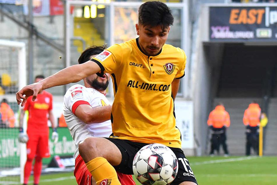 Auch Osman Atilgan, hier im Spiel gegen den SSV Jahn Regensburg am Ball, könnte heute die Rolle von Moussa Koné übernehmen.